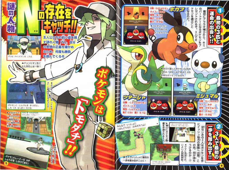  The starters and the new character N!