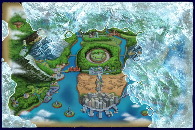 Unova Map