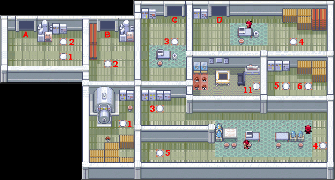 Pokemon Ruby And Sapphire Map Of Team Magma S Lilycove Base
