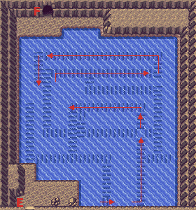 Pokemon Ruby and Sapphire :: Map of Seafloor Cavern