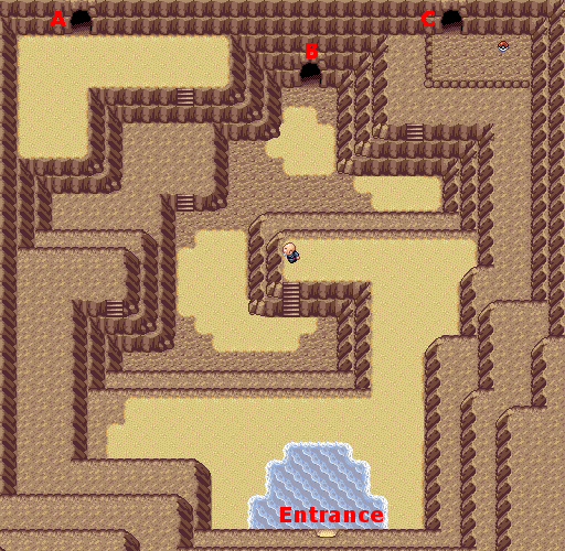 Pokemon Ruby Sapphire And Emerald Map Of Shoal Cave