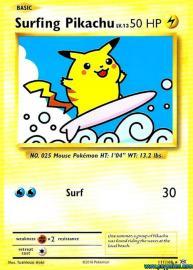 Surfing Pikachu (Evolutions: 111/108)
