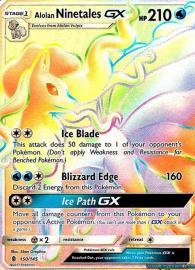 Alolan Ninetales GX (Rainbow Full Art) (Guardians Rising: 150/145)