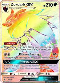 Zoroark GX (Rainbow Full Art) (Shining Legends: 77/73)