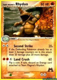 Team Magma's Rhydon (EX Team Magma versus Team Aqua: 22/95)