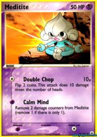 Meditite (EX Hidden Legends: 65/101)