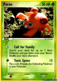 Paras (EX Fire Red and Leaf Green: 72/112)