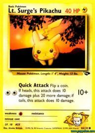 Lt. Surge's Pikachu (Gym Challenge: 84/132)